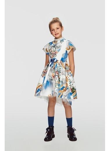 Lia Lea Kız Çocuk Desenli Elbise 20Fwll01726 Renkli